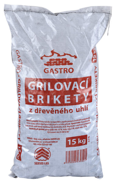 Grilovací brikety GASTRO 15kg